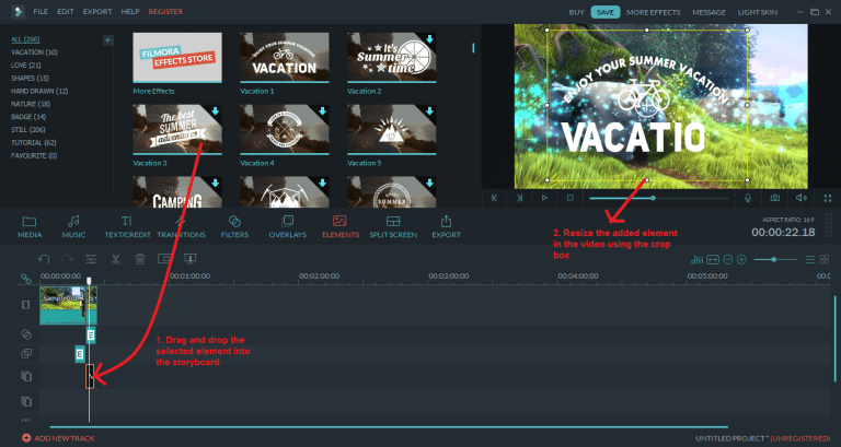 wondershare video editor element