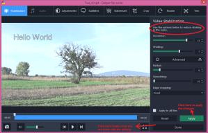 movavi video converter edit stabilization