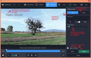 movavi video converter edit watermark