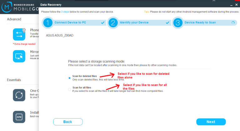 mobilego supertoolkit datarecovery start
