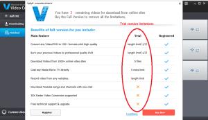 wondershare video converter trial limitation