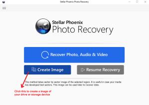 stellar phoenix photo recovery createimage