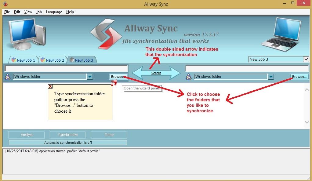 Allway Sync choosefolder