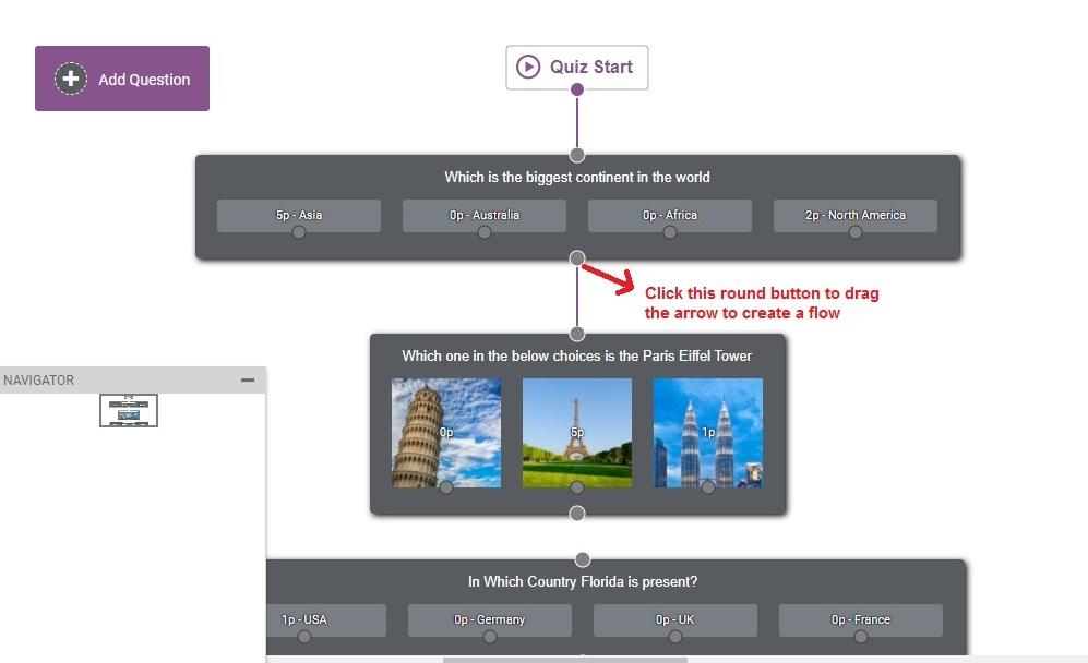 Thrive Quiz Builder createflow