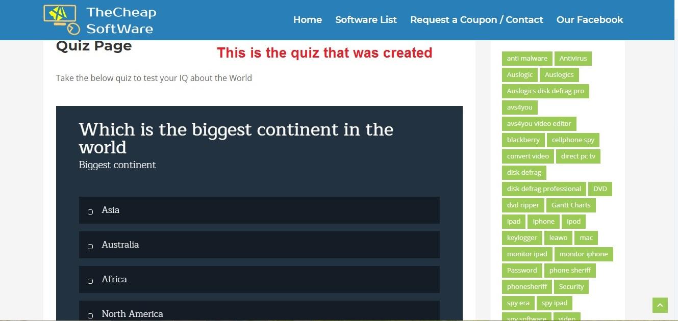 Thrive Quiz Builder quiz