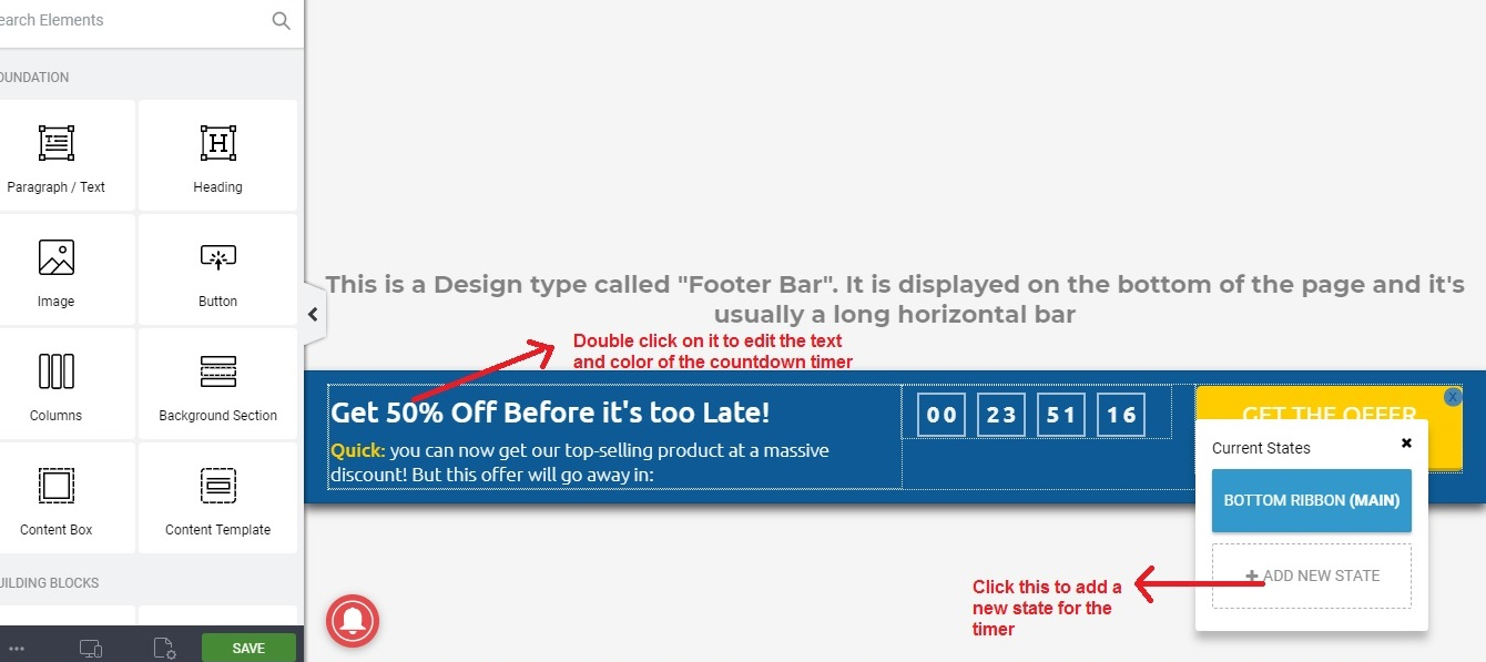 Thrive Ultimatum timer design