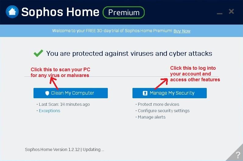 Sophos Antivirus desktop