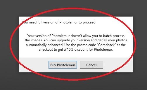 Photolemur trial limitation 1