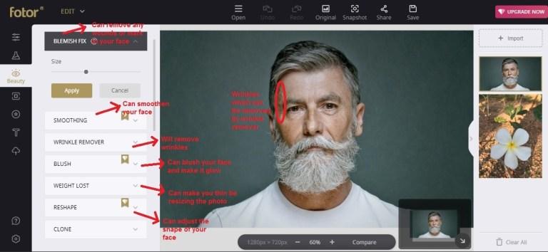 Fotor edit beauty face