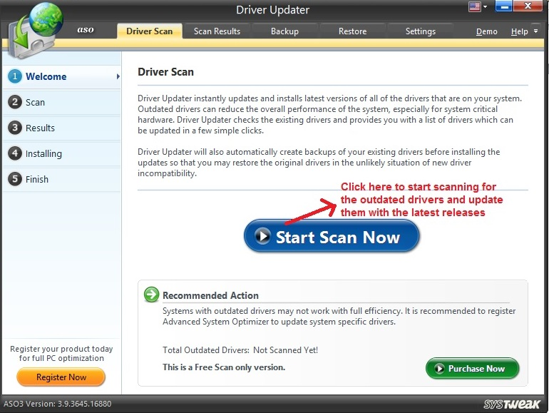 Advanced System Optimizer Driver Updater