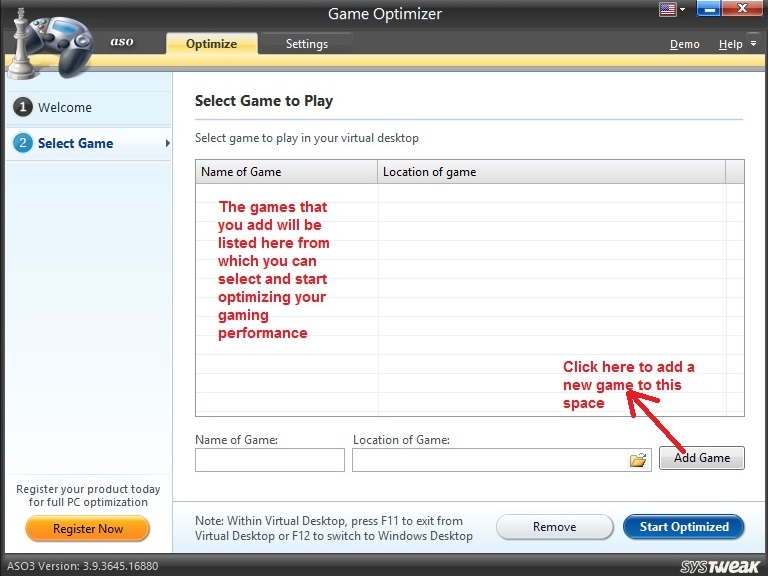 Advanced System Optimizer Game Optimizer