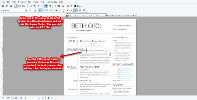 Ashampoo PDF Pro OCR edit