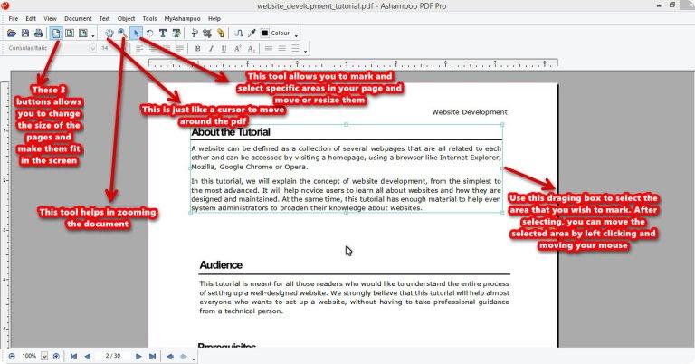 Ashampoo PDF Pro mark tool