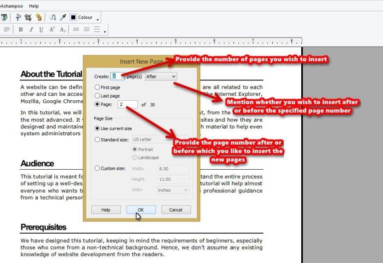 Ashampoo PDF Pro page insert choose page