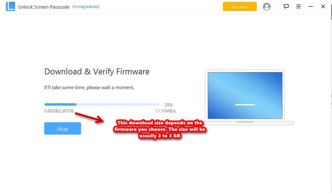 unlock lock screen download progress
