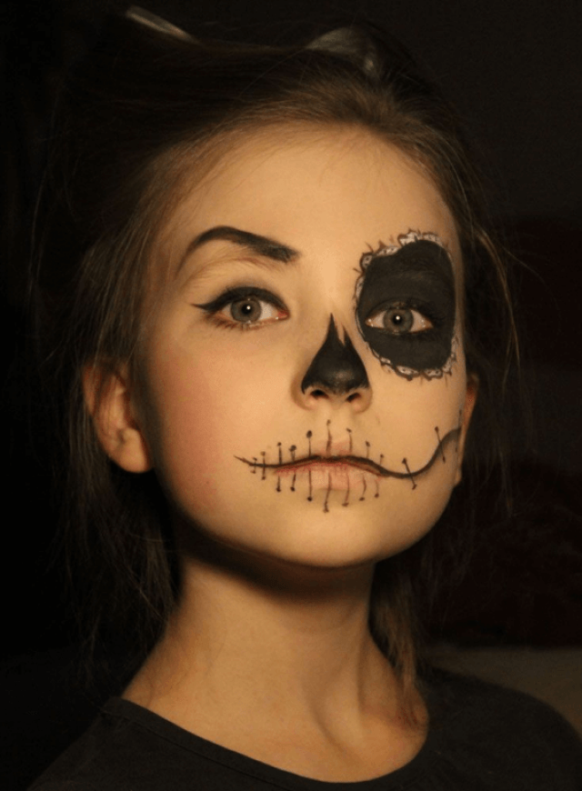 Simple Halloween Makeup For Kids That They Will Love The Cheerful Spirit