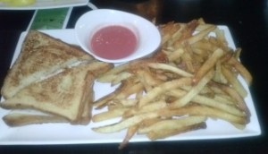 My meal for the afternoon.... Chicken Monte Cristo