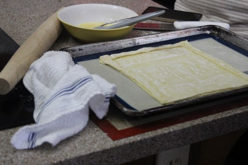 Prepping puff pastry