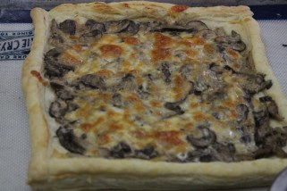 The finished Creamy Mushroom Tart