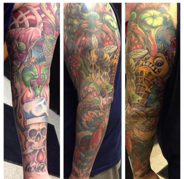 Chef Chris Richter's Right Arm Sleeve Tattoo