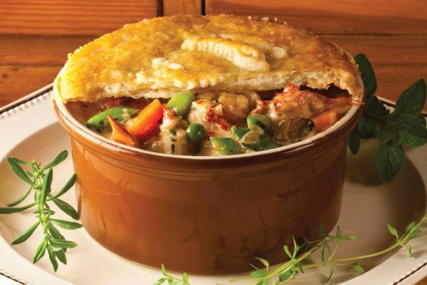 Pearl Oyster Bay Lobster Pot Pie by Chef Rebecca Charles. Photo by Battman. Pies, cookbook, ebook