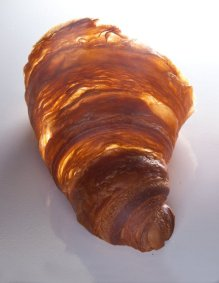 Croissant from The Pastry Chef's Little Black Book by Michael Zebrowski & Michael Mignano. Photo by Battman.