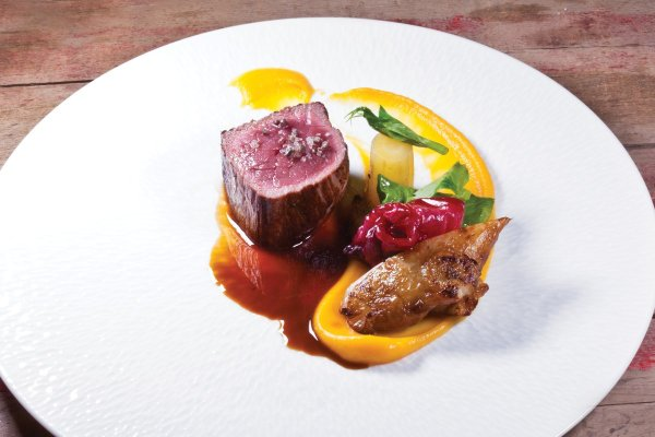Roasted Elk by Stephane Modat. Photo by Battman. Master Chefs of France