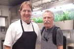 Battman with Chef Brad Steelman.