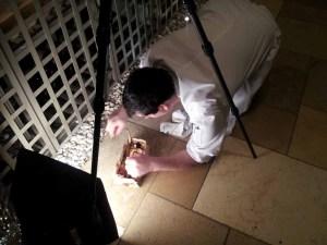 Chef Damian Sansonetti prepares his dish for the Street Eats book. Photo by Battman.