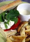 The italian inspired Vespa Burger