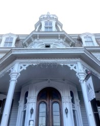 This is the Mansion Inn, a former manor home that was built in 1865 and was the first home to have running water in the county.