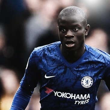 Midfielder Ngolo Kante in action for Chelsea FC