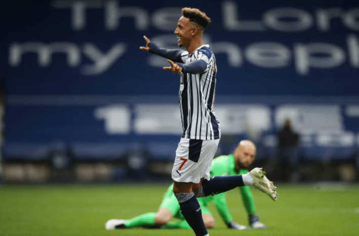 Robinson scores the opening goal for WBA.