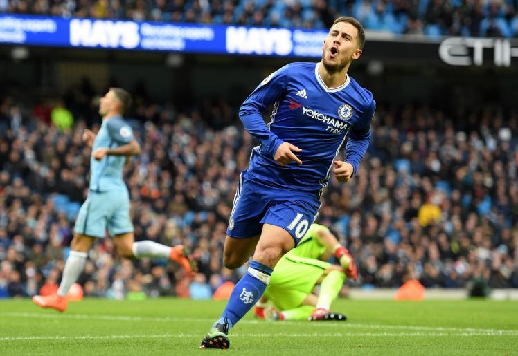 Eden Hazard demolishing Manchester City