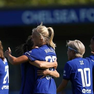 Chelsea women celebrate