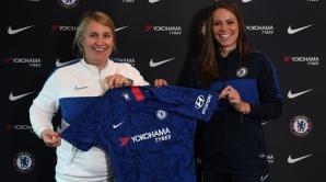 Melanie Leupolz signs for the Blues. Credit: Harriet Lander - Chelsea FC via Getty Images