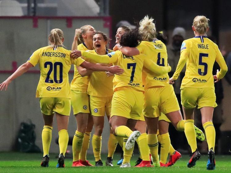 Maren Mjelde scores the winner against PSG.