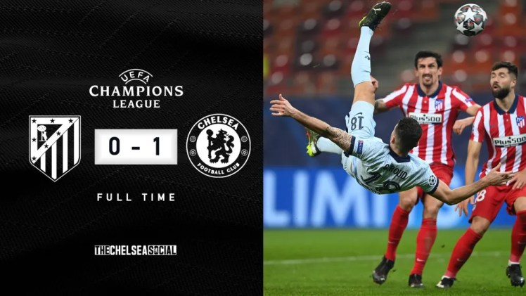 Atlético Madrid 0-1 Chelsea Final Score Edit.