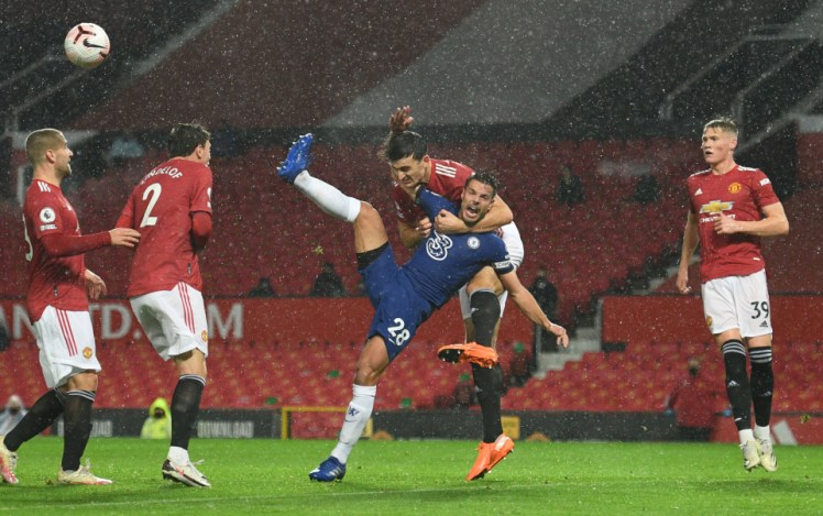 Chelsea v Manchester United was marred earlier this season by refereeing controversy.