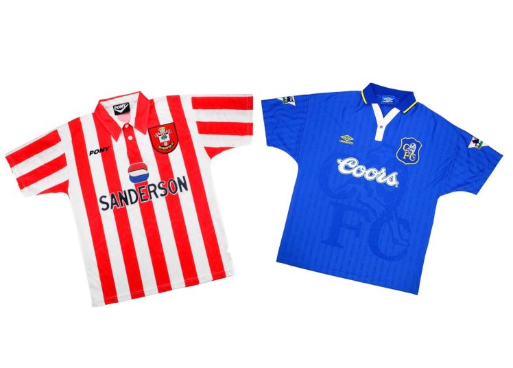 The classic kits on show in Southampton 2-3 Chelsea.