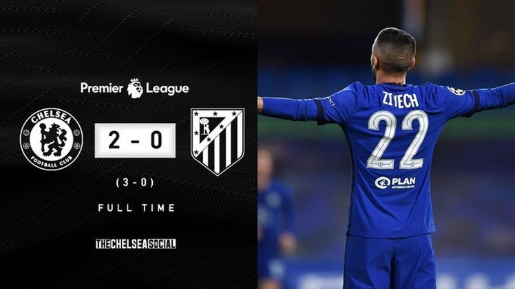Goals in either half from Ziyech and Emerson ensured it ended Chelsea 2-0 Atlético as Thomas Tuchel's Blues reached the UCL Quarter Finals.