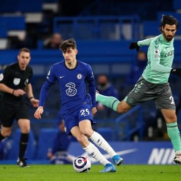 Kai Havertz shone as Chelsea beat Everton 2-0 at Stamford Bridge