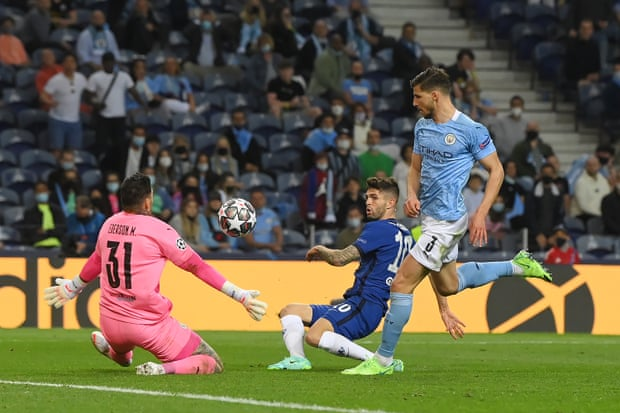 Christian Pulisic's miss means it remains Manchester City 0-1 Chelsea in the UCL Final.