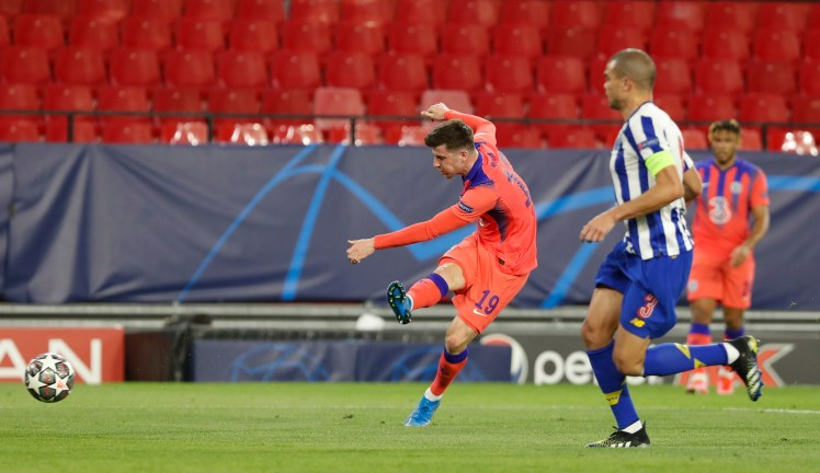 Turning the Tide: Mason Mount scores a crucial opener against Porto. Credit   AP via The Sun
