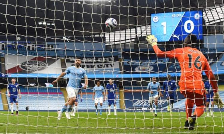 Mendy stood tall to save Aguero's panenka last time out. Blues fans will hope Mendy is fit enough to play following his rib injury against Aston Villa. Credit | Shaun Botterill/Reuters