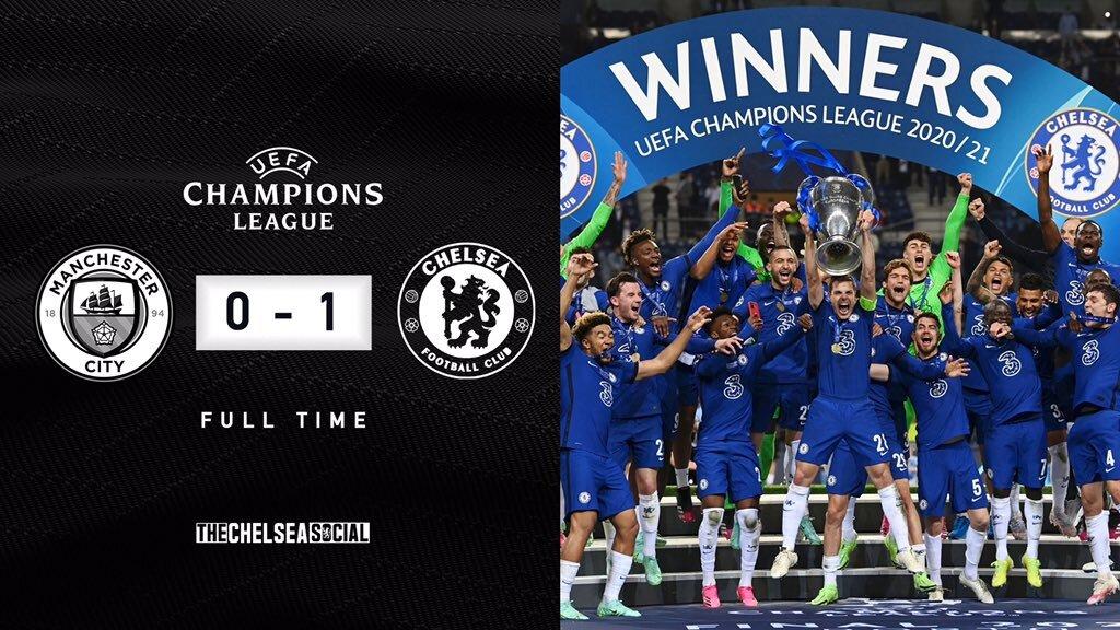 Manchester City 0-1 Chelsea UEFA Champions League Final Score Edit.