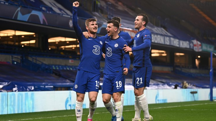 Timo Werner celebrates as he makes it Chelsea 1-0 Real Madrid.