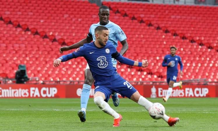 Hakim Ziyech scored the winner against Manchester City in the FA Cup Semi-Final, can he do it again in the Final? Credit | Charlotte Wilson/Offside/Getty Images