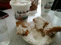 Image result for cafe au lait and beignets