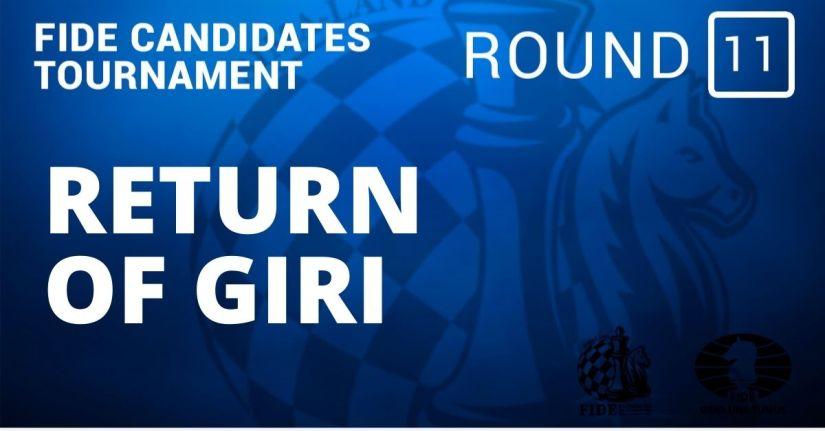 Fide Candidates Tournament – Return of Giri: Round 11